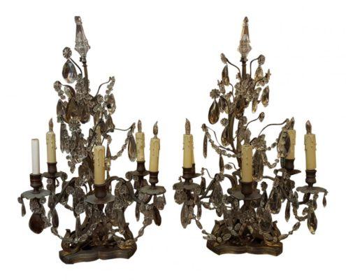 19th Century Bronze Candelabra
