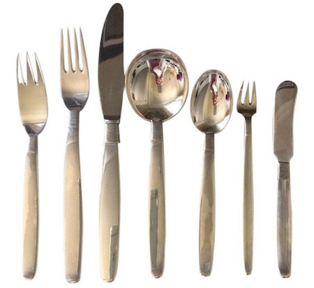 Frantz Hingelberg sterling silver flatware Thread pattern, service for 12. Estimate: $10,000-$12,000