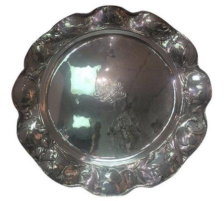 Martele Art Nouveau sterling silver tray. Estimate $8,000-$10,000.