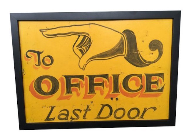 Tin trade sign, circa 1880, New England. Estimate: $700-$800