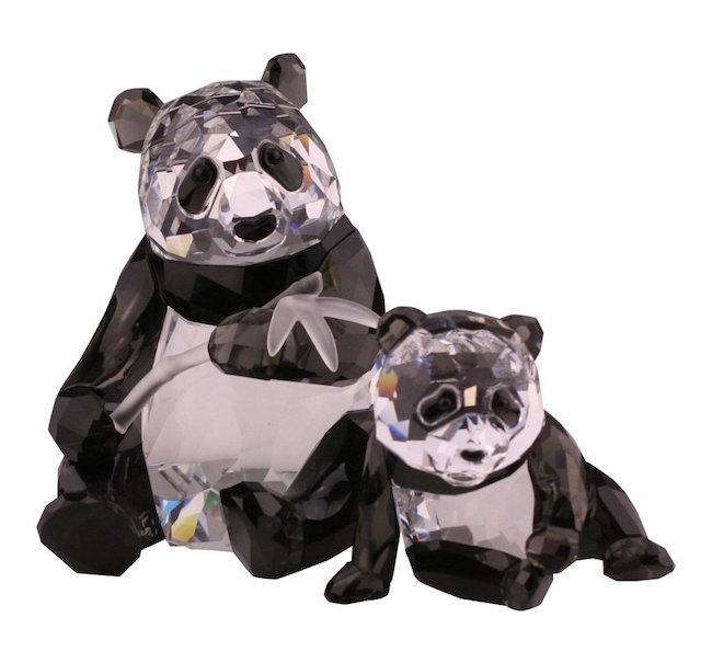 Two Swarovski Wildlife Panda Figurines, Est. $200-$400
