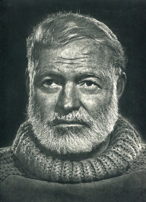 Ernest Hemingway by Yousuf Karsh, 1967. Sold for $120