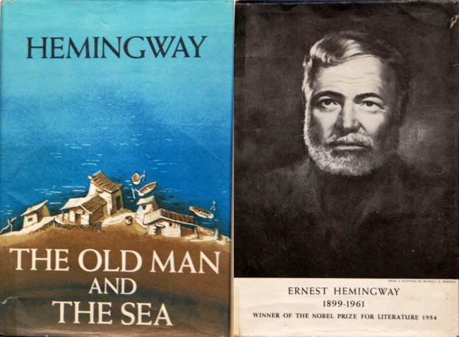 'The Old Man & Sea,' Ernest Hemingway, First Club Edition, 1952. Estimate: $15-$30
