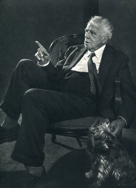 Robert Frost photographed by Yousuf Karsh, 1967. Sold for $110