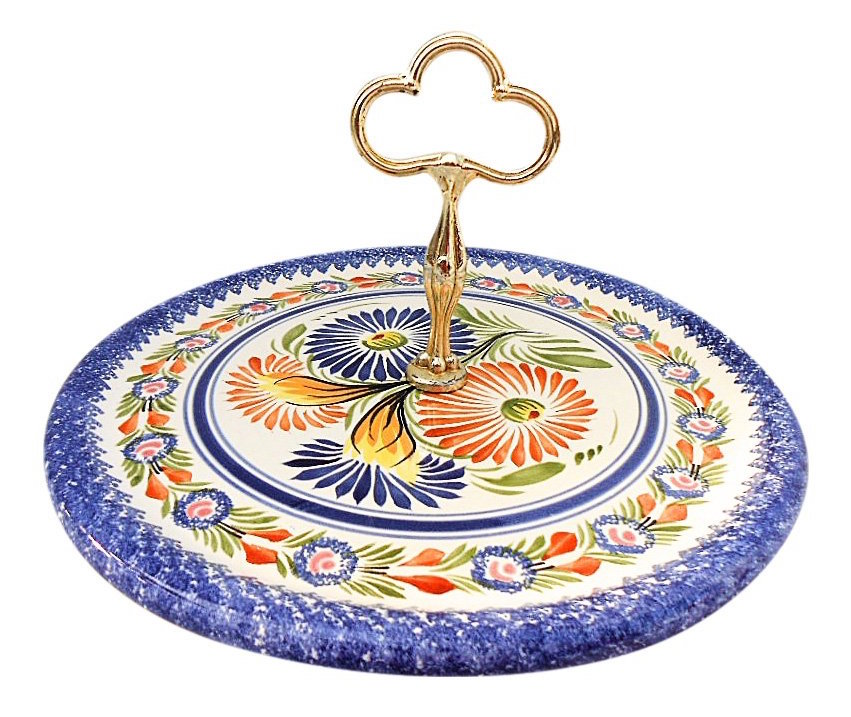 French Faience Cheese Board made by Henriot Quimper. Sold by $20