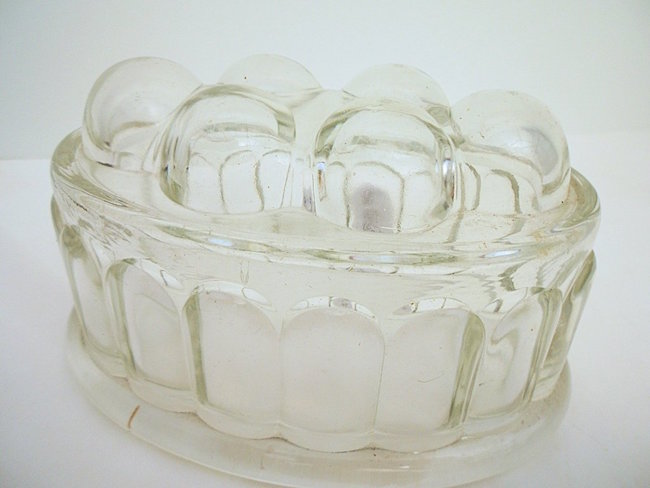 Pressed Glass Dessert and Gelatin Mold. Estimate: $100-$150