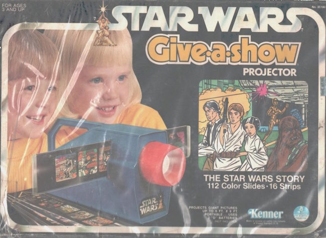 Star Wars Give-A-Show Projector, Kenner, Star Wars saga in 112 color slides. Estimate: $300-$400