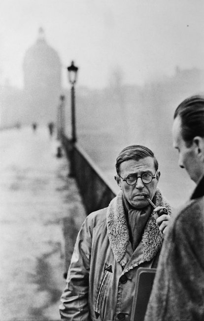Jean-Paul Sartre by Henri Cartier-Bresson, 1952. Est. $180-$220