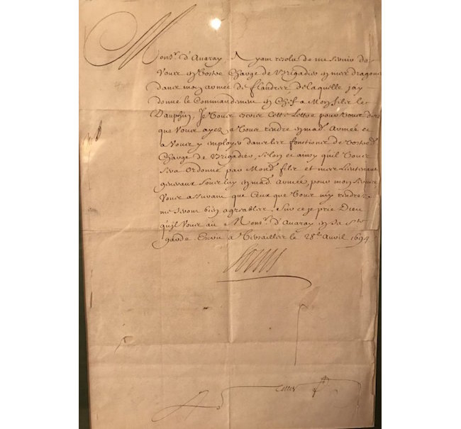 Louis XIV of France signed document, 1694. Estimate: $1,000-$1,250