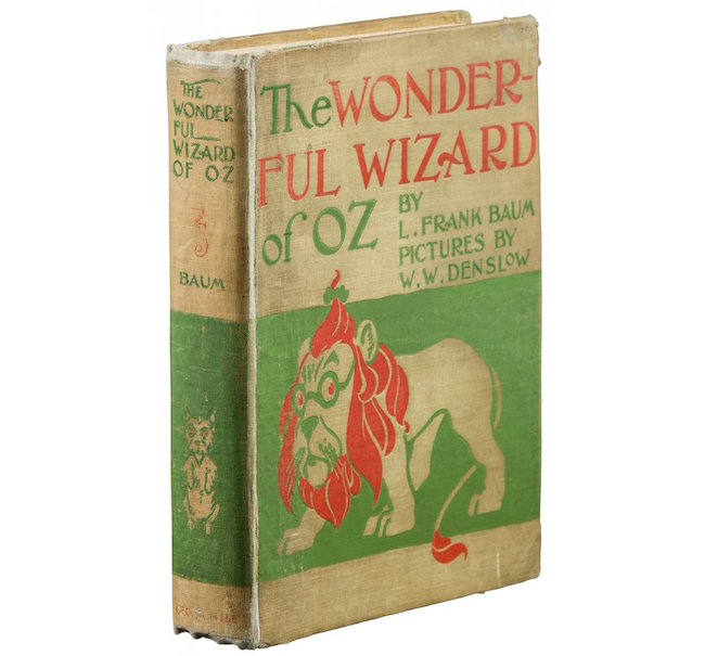 """The Wonderful Wizard of Oz,"" by L. Frank Baum, published by George M. Hill Co., First Edition, Second state, 1900. PBA Galleries. Estimate: $700-$1,000"