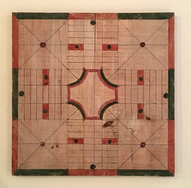 Parcheesi Game Board, 1900, made of Wood. Sold for $1,200