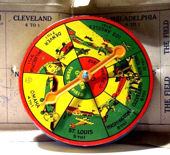 Spirit of St. Louis Transcontinental Spinner Game, 1925. Estimate: $150 - $300