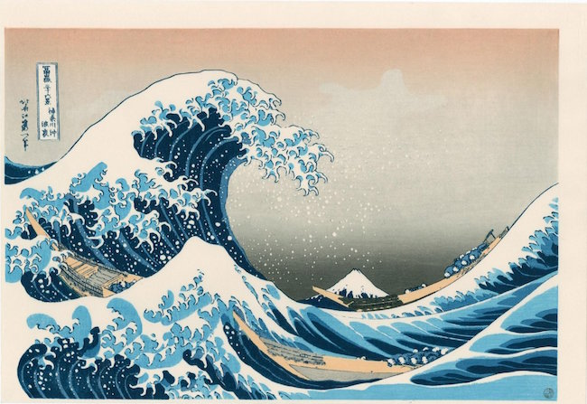 The Great Wave Off Kanagawa, 1820s. Sold for $800. Image courtesy of LiveAuctioneers
