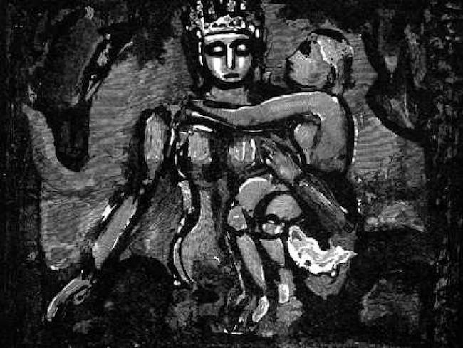 Georges Rouault, 'Notre Dame de la Fin des Terres' (Our Lady of the End of the World), woodblock print. Estimate: $1,500-$1,800
