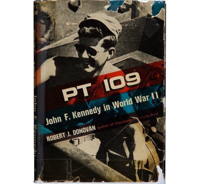 PT 109: John F. Kennedy in World War II, Robert J. Donovan, McGraw-Hill Book Company, inscribed and signed by JFK and all 10 surviving PT 109 crew members, sold for $13,750 at a Dec. 3, 2016 auction conducted by Heritage Auctions.